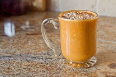 Blend up this Carrot Cake Protein Smoothie. It's gushing with nutrients and 30g of protein.