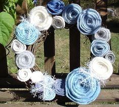 How to make a recycled sweater rose wreath | Recycled Crafts | CraftGossip.com