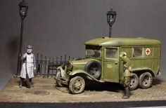 Build up By Alexander Fomin Used #Miniart's Kits:  35164 GAZ-05-194 AMBULANCE http://miniart-models.com/35164/ 36048 BRICKS PAVEMENT http://miniart-models.com/36048/  35502 HOUSE ACCESSORIES http://miniart-models.com/35502/