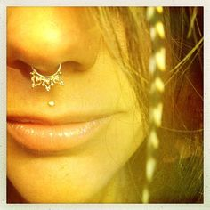 Gold Chloe Tribal Septum Ring - Septum Ring - Gold Septum Ring