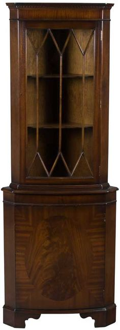 Bow Front Corner Cabinet in Mahogany
