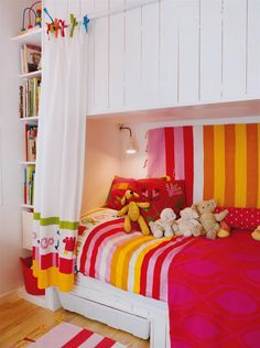Sleeping nooks are cozy, and if the above area was well-designed storage this would be cool.