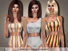 7b5ad3ab510d Black Lily s Breezy Stripes Swimsuit Striped Swimsuit
