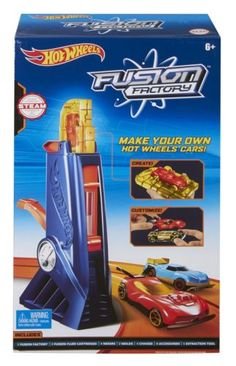 Toy-kids-kit-Hot-Wheels-Fusion-Factory-Car-Maker-create-your-own-cars-fun-game