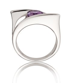 Silver Amethyst Gemstone Ring | Fine Gemstone Jewellery