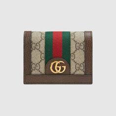 47714855a6b9e Ophidia GG card case Women s Designer Wallets