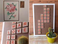DIY Quadro com alfabeto infantil