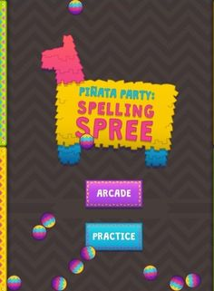 "(Spelling) Are you ready to join the Piñata Party and burst into the Spelling Spree? Join the fiesta in ""Arcade"" mode by tapping/clicking on the correct spelling of the word and using the slingshot to make the piñata burst open. Play ""Practice"" mode to test your knowledge these commonly misspelled words while honing your slingshot skills. HINT: There are two different levels of play. ""Easy"" is appropriate lower elementary grades and ""Hard"" is appropriate for upper grade levels."