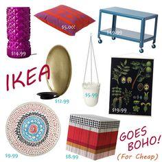 Ikea goes boho! Cute & cheap bohemian decor ideas, follow me {@GypsyYaya} for more !
