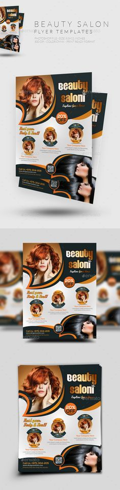 Beauty Salon Flyer Template #design Download: http://graphicriver.net/item/beauty-salon-flyer/12417398?ref=ksioks