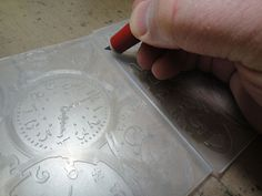 """great tip on how to emboss a tag in an embossing folder """"right side up"""""""