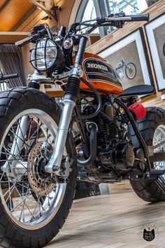 Small off-road Honda scrambler custom