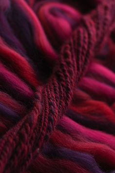 Roving fibers for spinning & knitting. Beautiful color, interesting texture in the spun yarn.