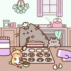 """Pusheen (@pusheen) on Instagram: """"We've got a new sweet recipe coming out tomorrow with @GeniusKitchen! Check in tomorrow to see…"""""""
