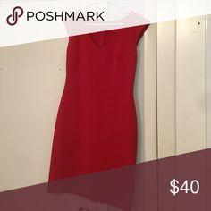 Ann Taylor red professional dress Ann Taylor, size 4, worn only a few times. Ann Taylor Dresses Asymmetrical