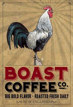 Boast Coffee Vintage Poster