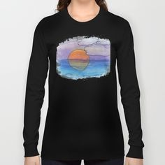 Sunset Dreaming - Watercolor Design Long Sleeve T-shirt
