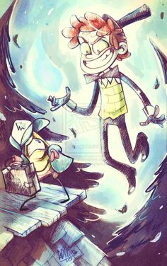 Bipper and... Dipp Cipher? by dragon-flies.deviantart.com on @DeviantArt <<< I'm loving this more than I should
