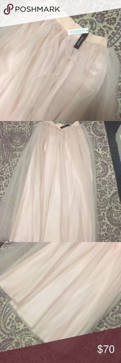 Tulle skirt Brand new baby pink tulle skirt Skirts Maxi