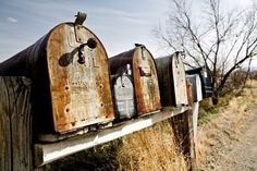 rusty mailboxes