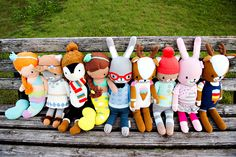 The whole cuddle+kind family at the park. 1 doll = 10 meals.