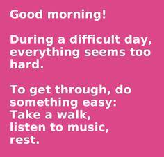 Wishing you an easy day.