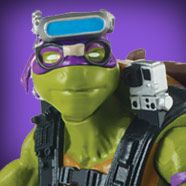 """TMNT 2016 Movie Donatello - These 5"""" basic action figures are highly detailed, fully poseable and uniquely sculpted to capture the personalities and distinctive appearance of the Turtles, their allies and their enemies in the 2016 movie.  Each figure comes equipped with its own unique accessories. Donatello comes with his special movie bo staff."""