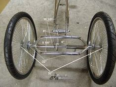 "Cruiser Trike - use 24"" or 26"" 140 spoke chrome wheels"