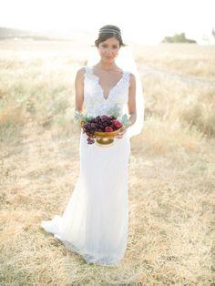 Bridal Shoot by Joseba Sandoval. Gowns | Yolan Cris Haute Couture, Headpieces | Lía Terni, Flowers | Susana Sanchez