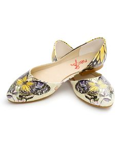 Love this Yellow Butterfly Printed Flat on #zulily! #zulilyfinds