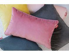 fatboy square pillow velvet www. King Pillows, Velvet Pillows, Soft Pillows, Design Bleu, Backrest Pillow, Taupe, Blankets, Glamour, Interiors