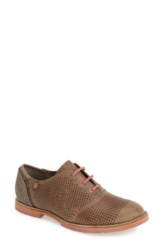 Ahnu 'Emeryville' Perforated Leather Oxford Flat (Women) | Nordstrom