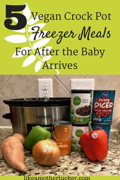 Making freezer meals during your last few weeks of pregnancy set you up for a successful postpartum recovery! The last thing you want to do is worry about food while recovering and bonding with your baby! Check out these five vegan freezer meals to make ahead! | Mother Tucker | Motherhood | #pregnancy #freezermeals #vegan