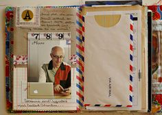 ROD Journal - Catherine - Using whole envelopes and airmail stripe tape.