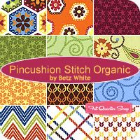 Stitch Organic Roll Up  Betz White for Robert Kaufman Fabrics