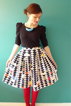 Cute skirt, probably not flattering on me.