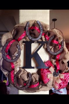 Western Burlap Wreath!  https://www.facebook.com/BrittanysWreathBowtique
