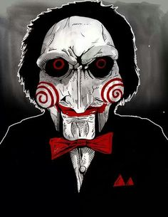 Horror Icons, Horror Art, Horror Movies, Marduk Band, Jigsaw Movie, Michael Myers And Jason, Scary Drawings, Marvel Paintings, Monster Movie