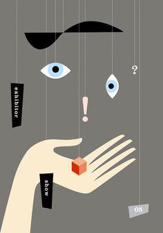 Michael Vanderbyl, USA - Exhibitor Show Poster 1 item Graphic Design Typography, Graphic Design Illustration, Eye Illustration, Art Design, Cover Design, Design Color, Blog Design, Design Trends, Cool Posters