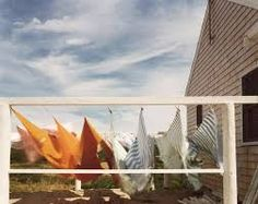 Photo by Joel Meyerowitz A backyard clothes line what i had in mind so this is great inspiration, it has some loud colour and movement
