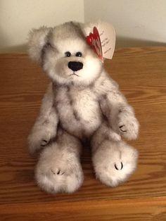 Ty Attic Treasures Fairbanks Teddy Bear Plush Stuffed Animal Jointed 2000 Gray #Ty