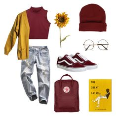 """primary colors"" by antisocialvirgo ❤ liked on Polyvore featuring Vans, Pier 1 Imports and Fjällräven"