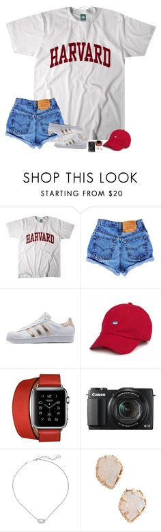 """"" by hopemarlee ❤ liked on Polyvore featuring adidas Originals, Hermès, G1, Kendra Scott and macks2k17summacontest"