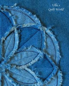Ulla's Quilt World: Flower cushion cover, TUTORIAL for a flower - quilt