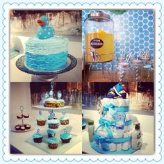 Baby shower cake and teats