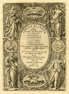 Adriaen Collaert after Maerten de Vos. - Title page, Engraving, 1581 Medieval Manuscript, Illuminated Manuscript, Ancient Paper, Creative Book Covers, Nuns Habits, Occult Art, Zodiac Constellations, Art Nouveau, Border Design