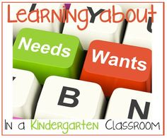 Sharing Kindergarten: Wants and Needs {with a FREEBIE}