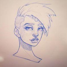 Quick afternoon sketch :-) #art #drawing #sketchbook #instaart #artofinstagram #portrait #face #improvement #photoshop #painting #progress