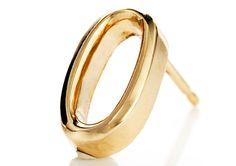 Lulu Frost Code 18K Gold Earring with Diamonds #0-4