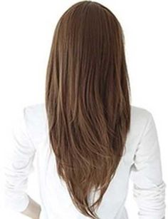 layered hair back view v shape - Google Search